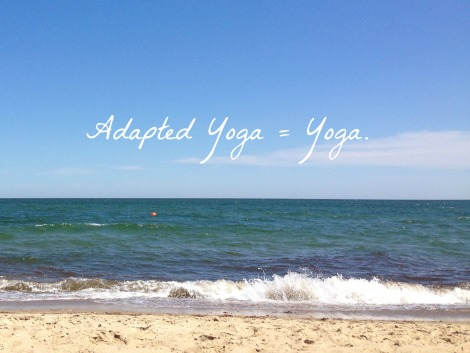 Adapted Yoga